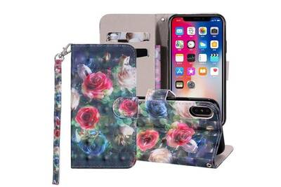 coque iphone xr cuir rabat