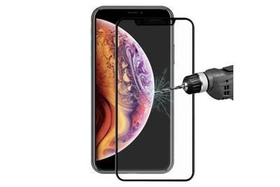 coque iphone xs verre cote noir
