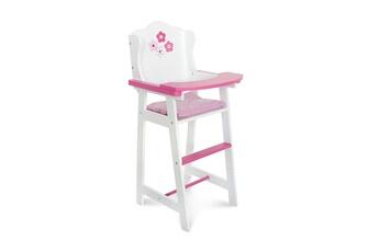 Accessoires de poupées Bayer Chic 2000 Bayer chic 2000 501 99 chaise haute en bois pour poupées design fiori bianco