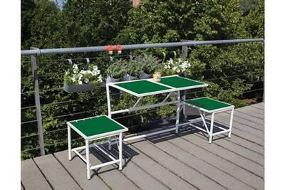 Salon De Jardin Esschert Design Banc 2 Places Convertible En Tables