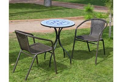Table De Jardin 2 Personnes.Salon De Jardin 2 Personnes Plateau Mosaique Berna Brasil