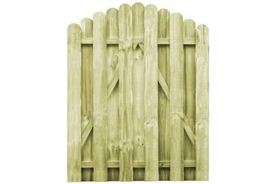Portail De Jardin Bois Pin Imprégné 100x125cm Design D Arche