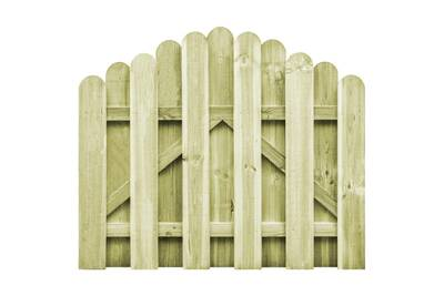 Portail De Jardin Bois Pin Imprégné 100x75 Cm Design D Arche