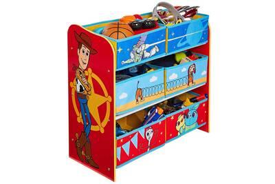 Meuble de rangement pour chambre d\'enfant avec 6 bacs toy story disney