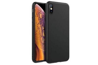 coque iphone xs matte noir