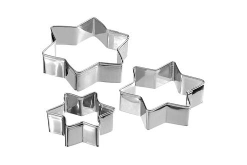 Promobo Lot 3 emporte pièces découpe pate empreinte métal etoile