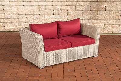 Splendide canapé banquette 2 places gaborone rouge
