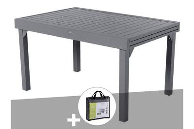 Table De Jardin Composite.Table Extensible Composite Piazza 6 10 Places Anthracite Gris
