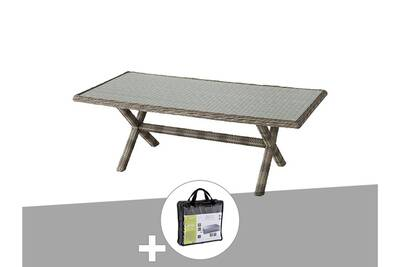 Table de jardin hespéride rectangle en résine tressée betong 8 places