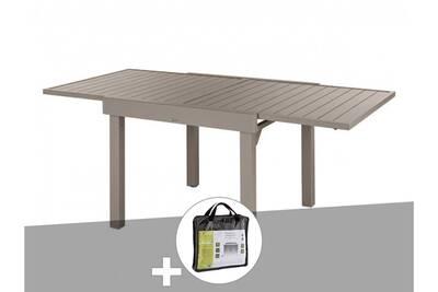 Table de jardin Hesperide Table extensible rectangulaire alu piazza ...