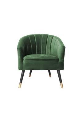 Art Deco Fauteuil.Fauteuil Art Deco En Velours Royal Vert