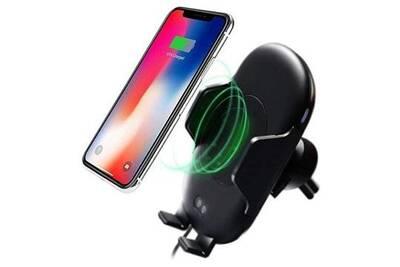 Support Pour Téléphone Mobile Mobile24 Support Chargeur Voiture Sans Fil Qi Avec Capteur De Mouvement Infrarouge C10 Darty