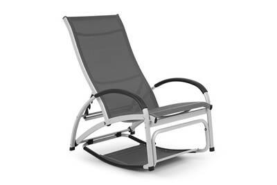 Blumfeldt beverly wood chaise longue de jardin à bascule - transat bain de  soleil pliable - aluminium gris