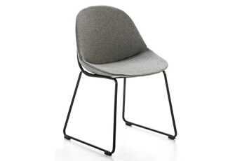 avec tissu avec gris en tissu en gris chaise chaise N0vmw8n
