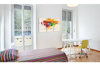 60x40 Tableau Multicolores Abstraction Sublime Perroquet