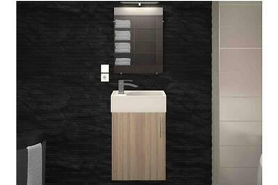 Ensemble salle de bain AUCUNE Meuble de salle de bain bois clair 1 ...