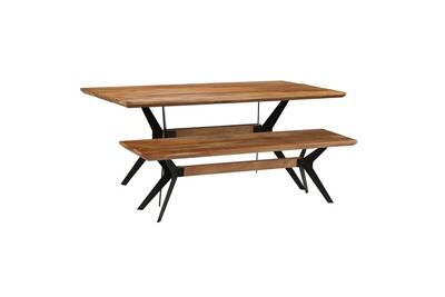 Ensemble Table Chaise Vidaxl Table Et Banc à Dîner Bois Dacacia