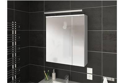 Meuble salle de bain AUCUNE Armoire de toilette 2 portes bois blanc ...