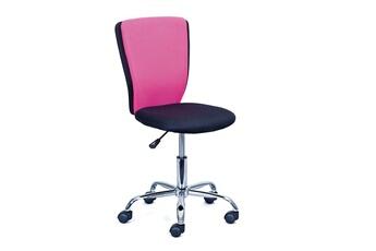 Chaise Haute De Bureau Enfant Senja 98cm Noir Rose