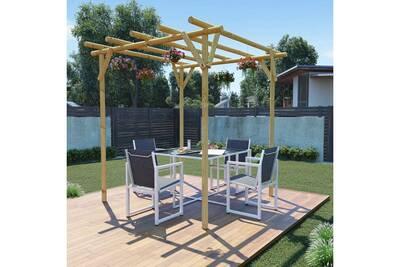 Structures extérieures reference achgabat pergola de jardin 2 x 2 x 2 m  bois de pin imprégné
