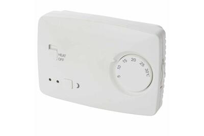 Thermostat et programmateur de chauffage PEREL Thermostat non programmable blanc cth407