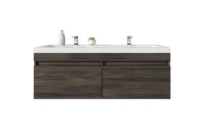 Meuble de salle de bain avellino 120cm lavabo chene gris – armoire de  rangement meuble lavabo