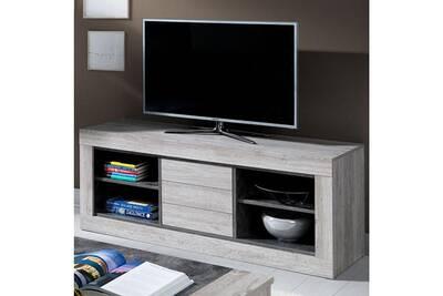 meuble tele 150 cm contemporain couleur bois nathan