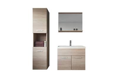 Meuble de salle de bain montreal 60 cm lavabo sonoma - armoire de rangement  meuble lavabo evier meubles