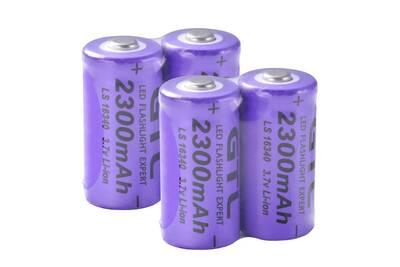 16340 Rechargeable Lampe De Poche 2300mah 4x Batterie Pour Lithium Rc1036 Gtl AL3qRj54