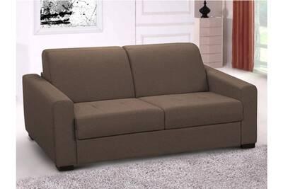 détaillant en ligne 349a9 67d52 Canapé 3 places convertible express en tissu amyr - chocolat - matelas 18 cm