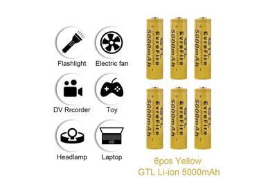6 Batterie Gtl Rechargeable Li Pile Ion X Xcsource b7yfgY6