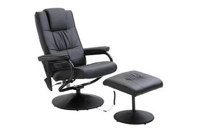 Fauteuil massant HOMCOM Fauteuil de massage vibration electrique relaxation avec chauffage noir