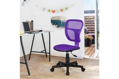 Chaise Violette De Maille Plastique Bureau 5Aj3L4R
