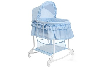 Couffin Little World Berceau ? bascule 2-en-1 85x70x110 cm bleu lwfu002-lbl