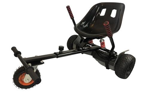 Hoverboard hummer noir et hoverkart noir tout terrain avec protection