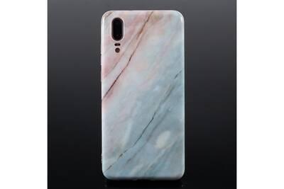 coque huawei p20 marbre bleu