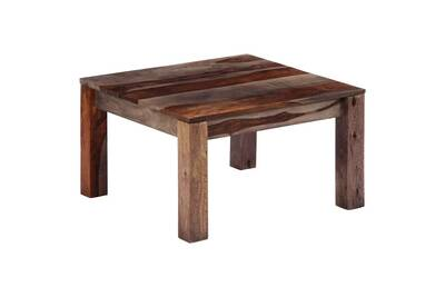 Tables Basses Et Tables D Appoint Ensemble Belgrade Table Basse Gris 60 X 60 X 35 Cm Bois De Sesham Massif