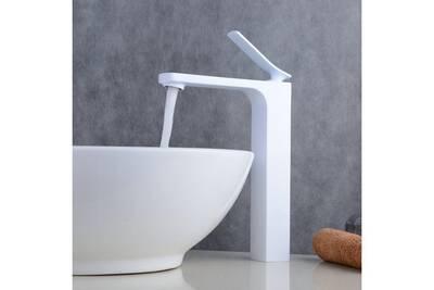 mitigeur robinet blanc integral lavabo pour vasques a poser
