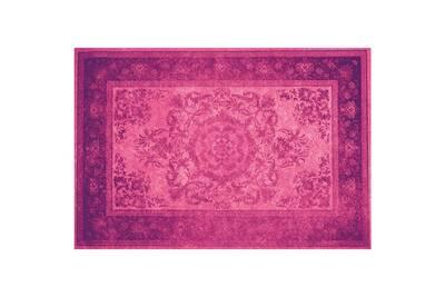Tapis en vinyle - vintage - v-012, 143x97cm, violet foncé/violet clair,  violet foncé/violet clair