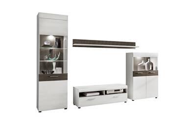 design de qualité b2b8d 1a3c3 Ensemble meuble tv sardou bois gris et blanc
