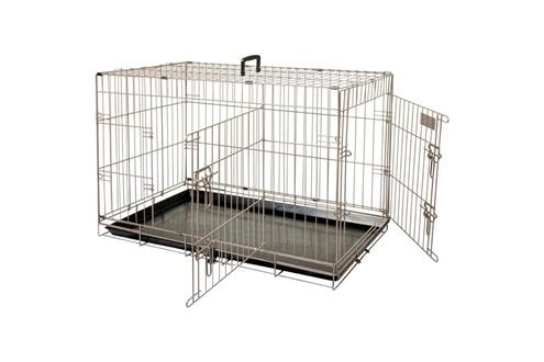 Cage pour animaux ebo marron métallisé 61 x 43 x 50 cm 517580