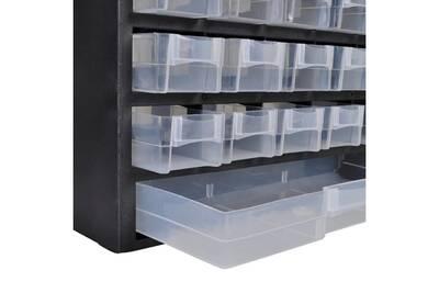 Meuble Rangement D Atelier Vidaxl Boite A Outils De Rangement Avec 41 Tiroirs 2 Pcs Plastique Darty