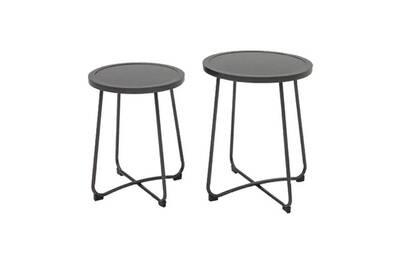 Table basse gigogne porto (lot de 2) • mobilier extérieur
