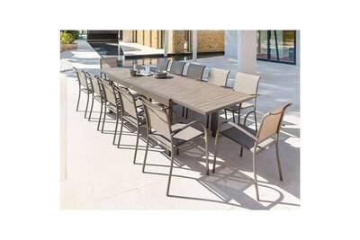 Table extensible composite piazza 10/12 places • mobilier extérieur