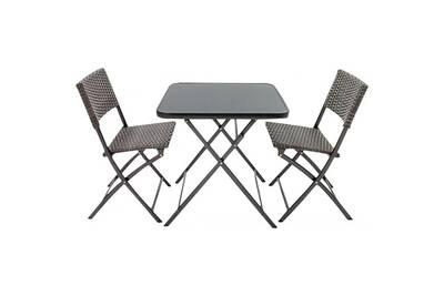 Set jardin en aluminium 2 personnes ankara • mobilier extérieur