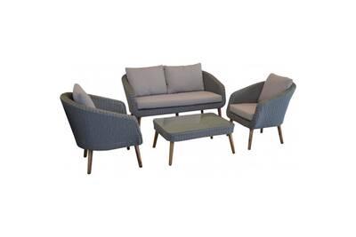 Salon détente en résine tressée centura • mobilier extérieur