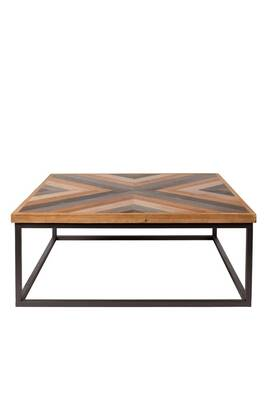 Table Métal Bois Basse Joy Couleur Design 81x81cm Carré xEBoWreQdC
