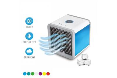 Climatiseur Mobile Portable Avec Connexion Usb 3 Niveaux De Refroidissement 7 Lumières D Ambiance