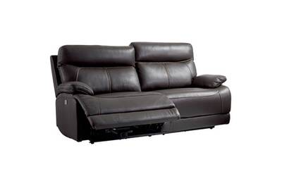 Cordoue Canape Relax Electrique 3 Places Cuir Marron