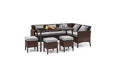 Ensemble table et chaise de jardin Blumfeldt Titania lounge salon de ...